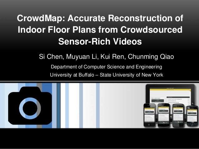 CrowdMap: Accurate Reconstruction of Indoor Floor Plans from Crowdsourced Sensor-Rich Videos Si Chen, Muyuan Li, Kui Ren, ...