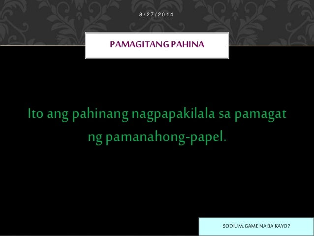 ano ang term paper o pamanahong papel Ito ay maaaring maging kritikal na sanaysay, lab report, eksperimento, konseptong papel, term paper o pamanahong papel, thesis o disertasyon.