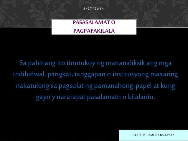 talaan ng mga talahanayan at grap Talaan ng mga talahanayan at grap ynakatala ang pamagat ng bawat talahanayan at/ o graf na nasa loob ng pamanahong-papel at ang bilang ng [ahina kung saan.