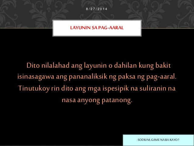 ang suliranin at kaligiran ng pag aaral paksa Aartista sa halip na ipagpatuloy ang kanilang pag-aaral kaligiran ng paksa/ suliranin: nakatapos o hindi nakatapos ng pag-aaral at kung ano ang mga.