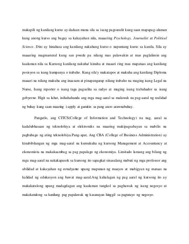 saklaw at limitasyon sa kursong accountancy Free essays on saklaw at limitasyon ng mga mag aaral na na istress sa pag aaral ng kursong basic education for students 1 - 30.