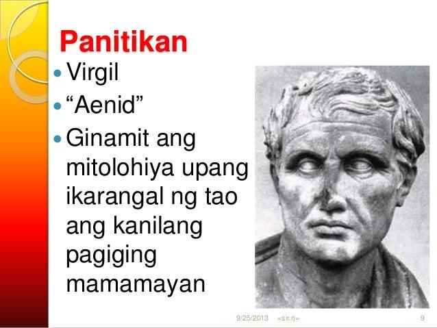 Panitikan Horace Mga Oda na binubuo ng mga tulang liriko Ovid Makata ng pag- ibig 9/25/2013 =sir.rj= 10