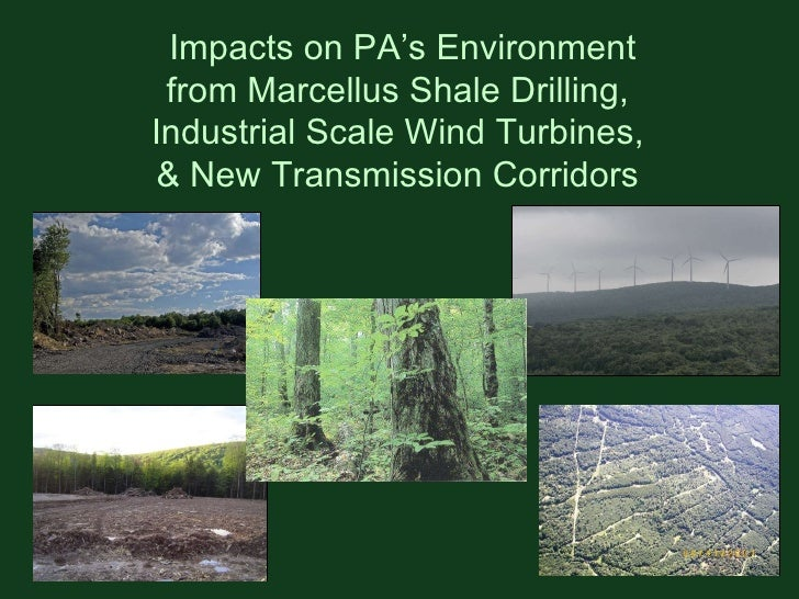 Impacts on PA's Environment from Marcellus Shale Drilling,  Industrial Scale Wind Turbines,  & New Transmission Corridors