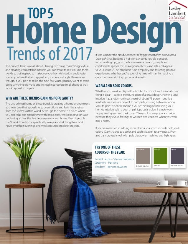 The current trends are all about utilizing rich color, maximizing texture and creating comfortable interiors you can't wai...