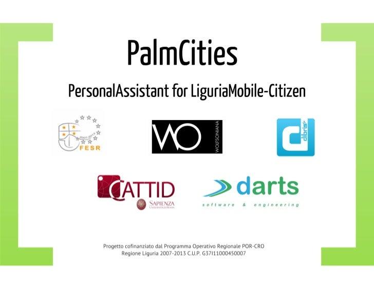 Palmcities - PersonalAssistant for LiguriaMobile-Citizen