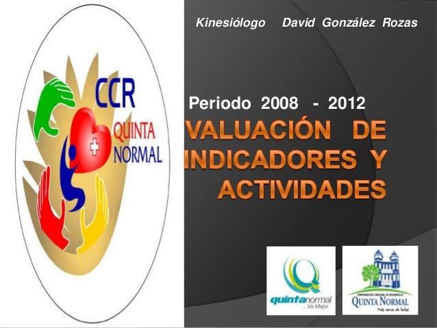 Periodo 2008 - 2012Kinesiólogo David González Rozas