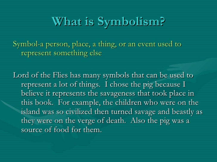 Pamela Lord Of The Flies Symbolism Project