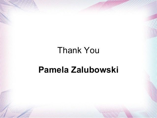 Thank You Pamela Zalubowski