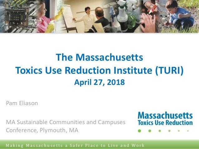 © Toxics Use Reduction Institute University of Massachusetts Lowell M a k i n g M a s s a c h u s e t t s a S a f e r P l ...