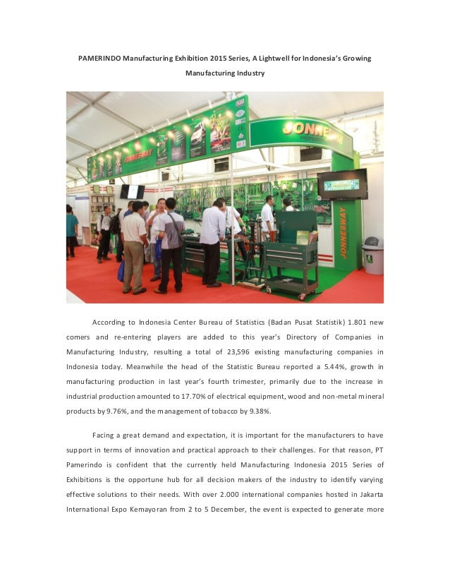 PAMERINDO Manufacturing Exhibition 2015 Series, A Lightwell