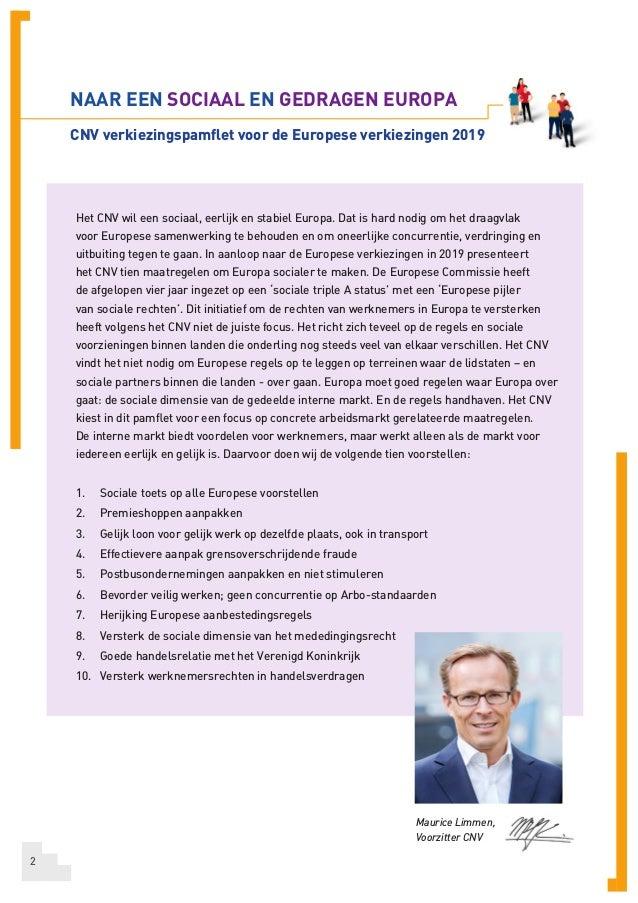 CNV Pamflet Europese verkiezingen  Slide 2
