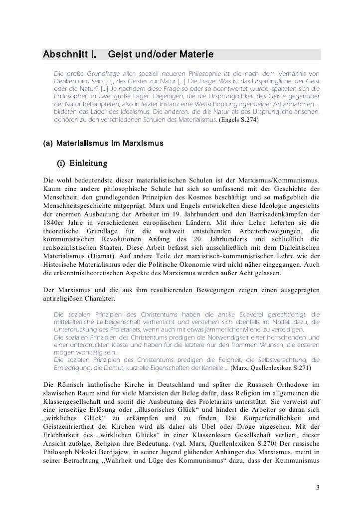AbschnittI. Geistund/oderMaterie    Die große Grundfrage aller, speziell neueren Philosophie ist die nach dem Verhältn...