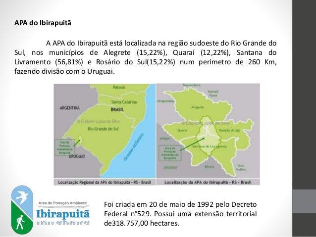 APA do Ibirapuitã A APA do Ibirapuitã está localizada na região sudoeste do Rio Grande do Sul, nos municípios de Alegrete ...