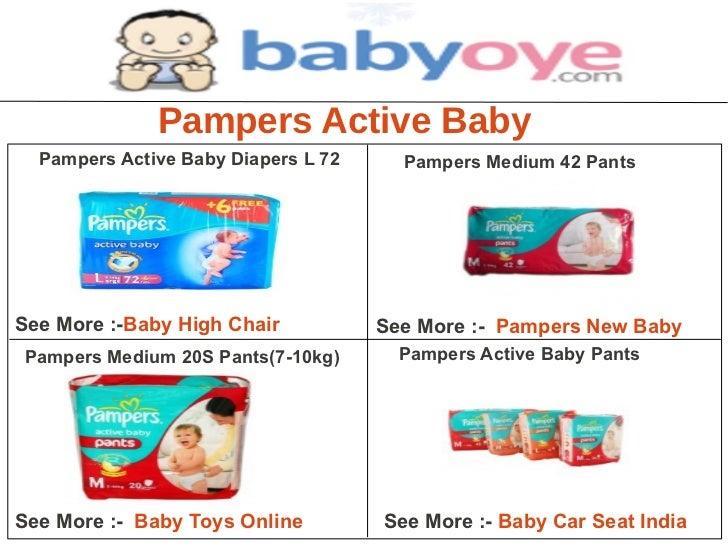 Pampers Active Baby  Pampers Active Baby Diapers L 72     Pampers Medium 42 PantsSee More :-Baby High Chair           See ...