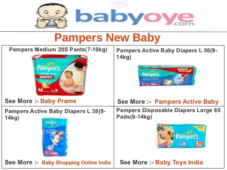 Pampers New Baby Pampers Medium 20S Pants(7-10kg)        Pampers Active Baby Diapers L 50(9-                              ...