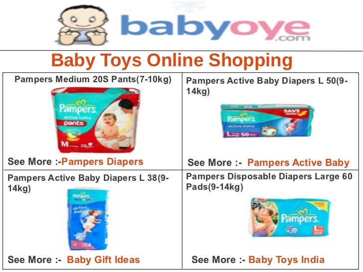 Baby Toys Online Shopping Pampers Medium 20S Pants(7-10kg)     Pampers Active Baby Diapers L 50(9-                        ...