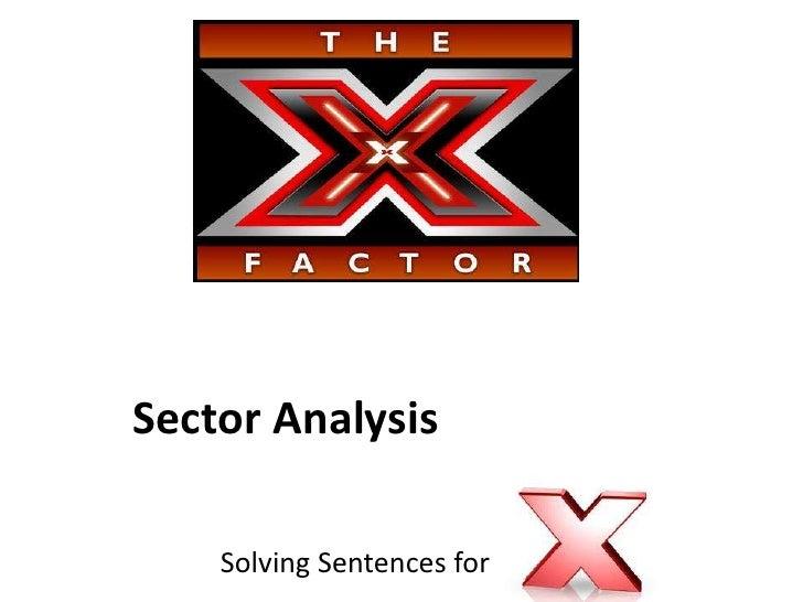 Sector Analysis    Solving Sentences for