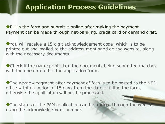 Pan Card Online Know How To Apply For