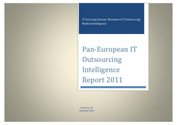 IT Sourcing Europe: Nearshore IT Outsourcing            Market Intelligence            Pan-European IT            Outsourc...