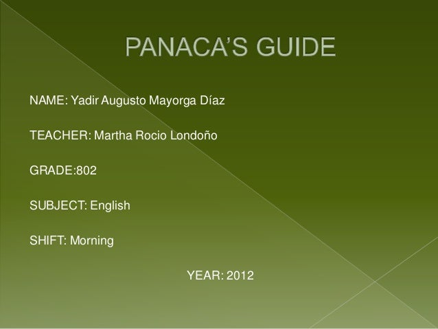NAME: Yadir Augusto Mayorga DíazTEACHER: Martha Rocio LondoñoGRADE:802SUBJECT: EnglishSHIFT: Morning                      ...