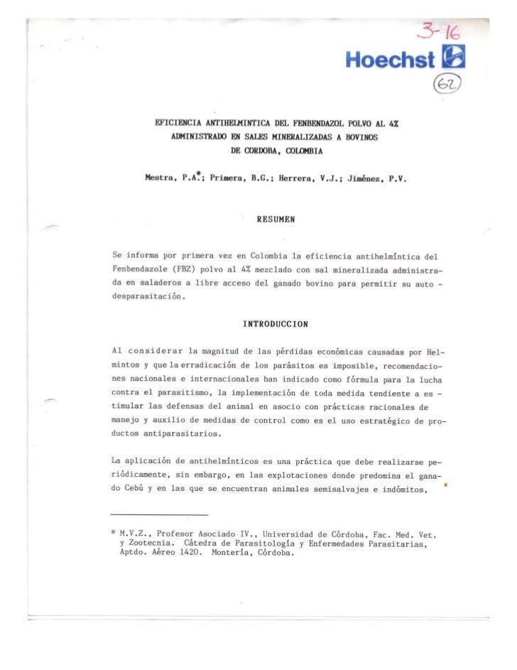 Panacur en polvo en la sal mineralizad MSD Salud Animal salud Antiparasitarios