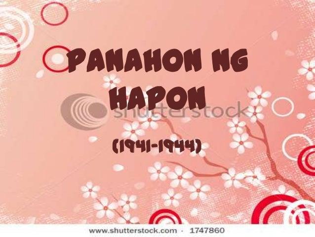 Panahon ng Hapon (1941-1944)