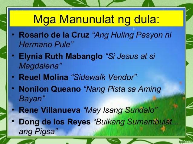 halimbawa ng dula sa makabagong panahon Ang blogsite na ito ay naglalaman ng mga halimbawa ng mga tagalog na tula ng aming mga kaibigan maraming salamat sa pagbisita at sana'y naging makabuluhan ang inyong pagdalaw.