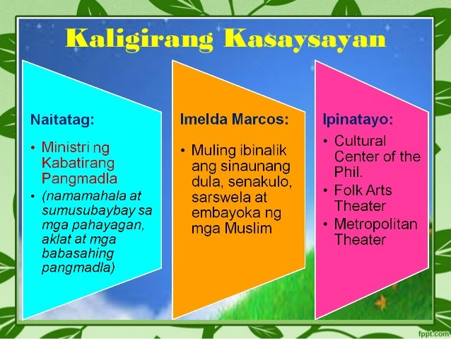 embayoka They presented a play sining embayoka at the cultural center of the philippines 3-6 give the themes of most poems during the period of new society 7-10 give the four organizations that contributed a lot to the development of plays during this period.