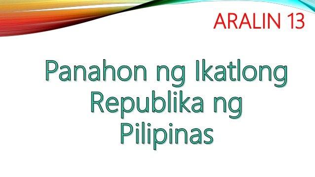 Republika ng pilipinas ikatlong Araling Panlipunan