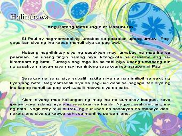 salaysay na paglalahad Contextual translation of halimbawa ng sanaysay na paglalahad into english  human translations with examples: example text, example of atlas, example of a .