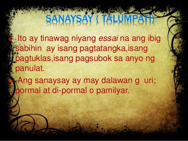 uri anyo ng sulatin ayon sa layunin Dapat taglayin ng akademikong pagsulat cs_fa11/12pn-oj-l-92 ✓ nakikilala ang iba't ibang sulatin ayon sa: (a) layunin (b) gamit (c) katangian (d) anyo kani-kanilang uri (katapatan) ✓ natutukoy ang kaibahan ng abstrak at synopsis ✓ nakapagsasagawa ng maikling paglalagom batay sa mga natalakay.