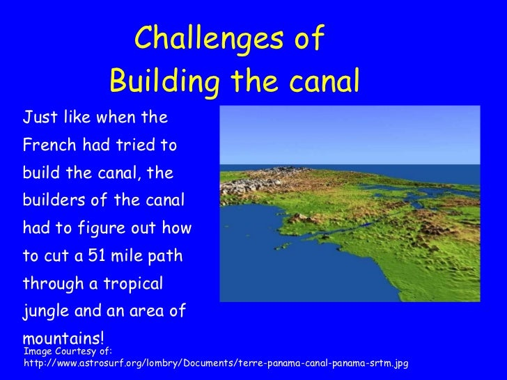 problems building the panama canal