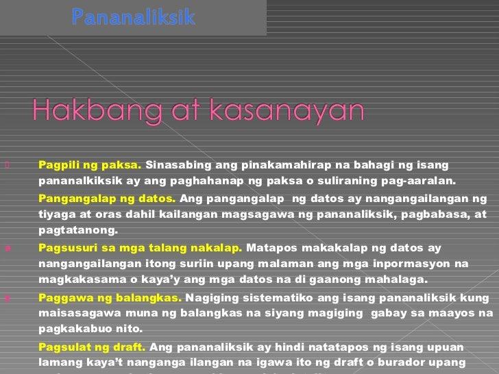 paksa sa filipino term paper