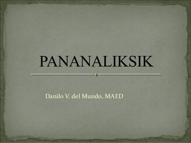 Danilo V. del Mundo, MAED