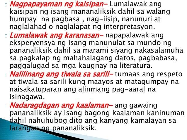 Ang Wikang Filipino sa Makabagong Panahon (Isang Pananaliksik)