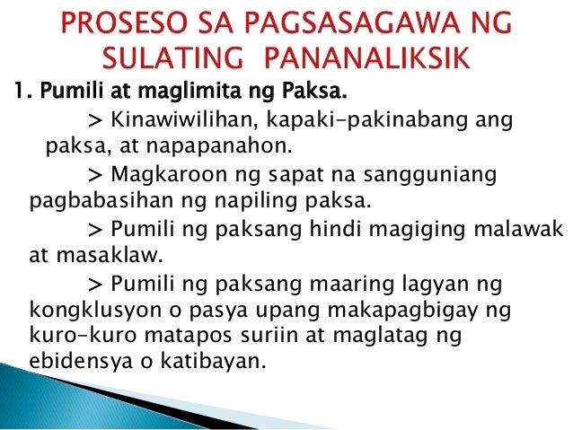 Gas Sample Ng Research Paper Sa Filipino