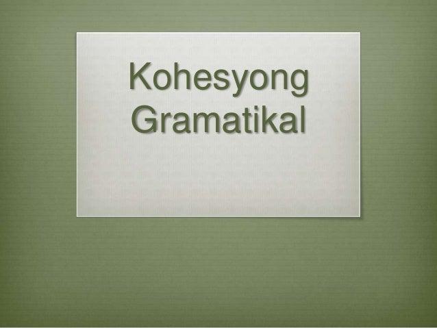 Kohesyong Gramatikal