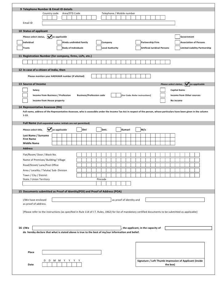 Pan application form 49 a for indian citizens 2 9 telephone number yelopaper Gallery