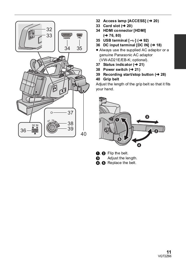 Panasonic HDC-MDH1 manual usuario