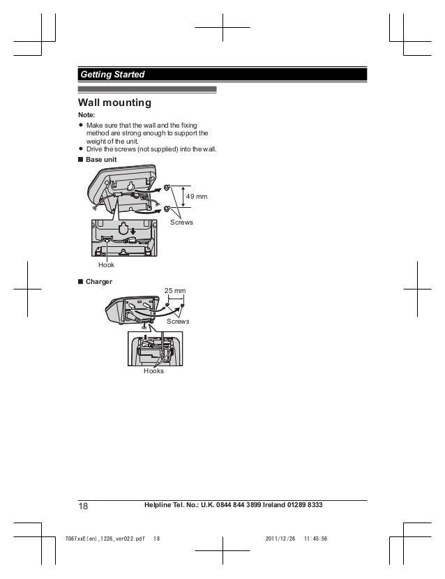 Инструкция panasonic kx tga