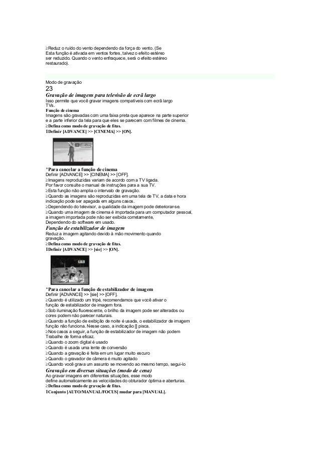 Panasonic AG-DVC20P Manual de Instruções PT BR