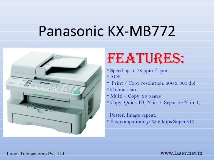 Panasonic laser fax machine kx-mb2025cx | panasonic multi-function.