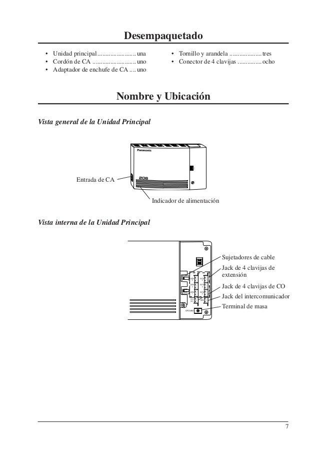 Panasonic kx t206 ag manual de instalacion