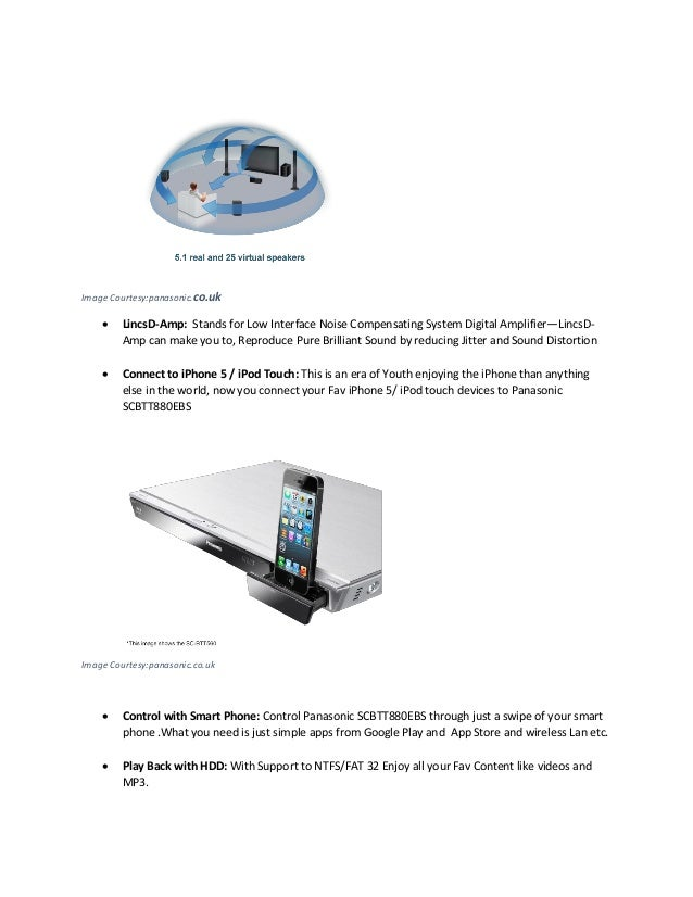 Panasonic scbtt880 ebs 3d blu ray hts system