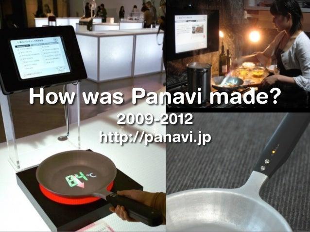 How was Panavi made? 2009-2012 http://panavi.jp