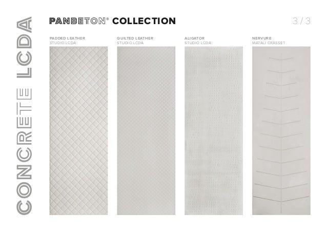 Panbeton® collection