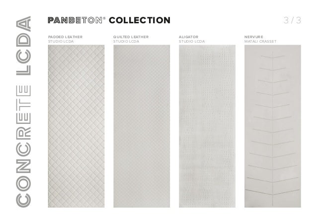 panbeton collection. Black Bedroom Furniture Sets. Home Design Ideas