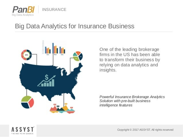 Copyright © 2017 ASSYST. All rights reserved INSURANCE Big Data Analytics for Insurance Business One of the leading broker...