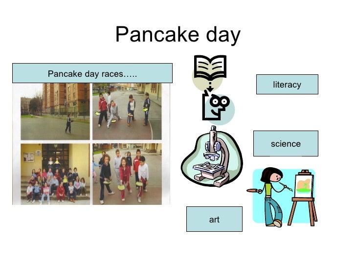 Pancake day Pancake day races….. literacy science art