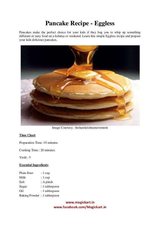 Pan Cake Recipes Eggless